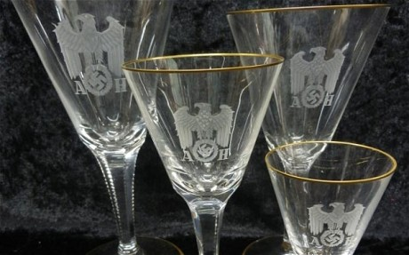 Hitler's-set-of-wine-glasses