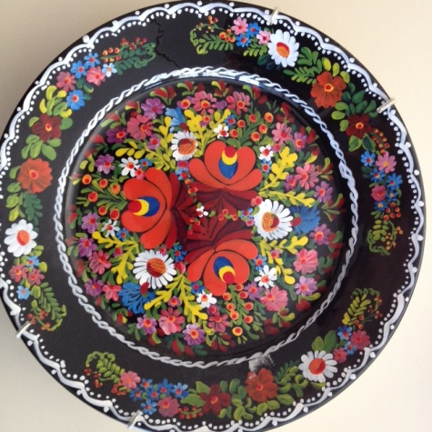 Hungarian painted plate