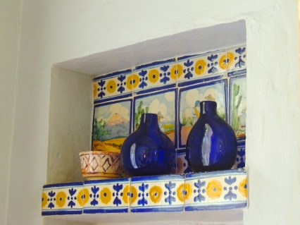 I loved this little alcove near the kitchen -- Pauline bought the tiles in Spain.