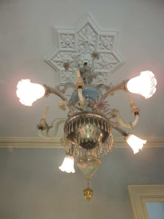 One of Pauline's fancy light fixtures.