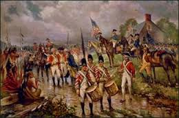 The British surrender at Saratoga. Who wants Madeira?