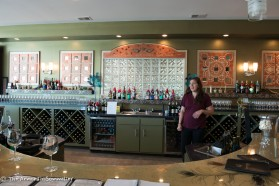Tasting room and hostess.