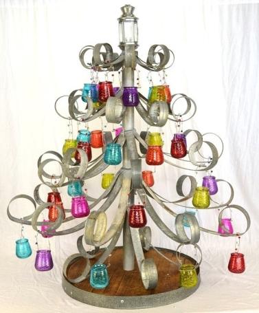 Wine Barrel Ring Holiday Tree