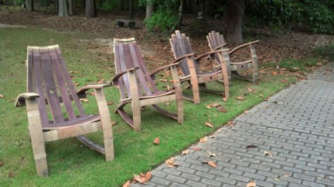 Wine Barrel Adirondack Chairs